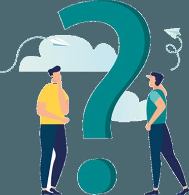 Spørsmål og svar illustrasjon