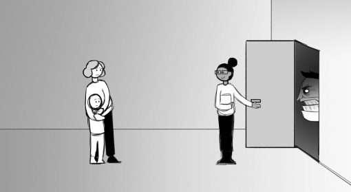 Bildet illustrerer situasjon på familievernkontor